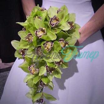 Из орхидей купить свадебный букет из