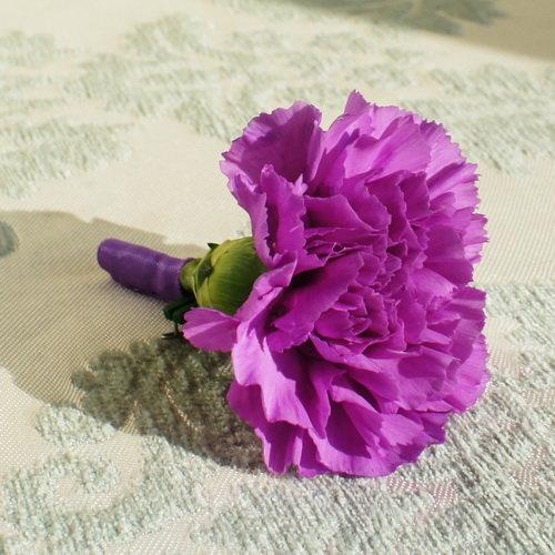 Цветы гвоздика из атласных лент своими руками